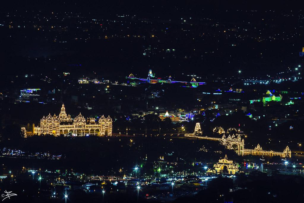 Mysore Palace from Chamundi Hills